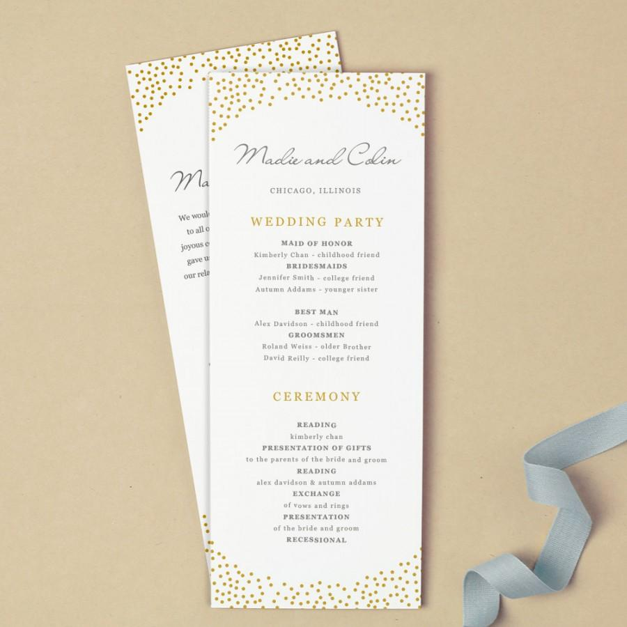 زفاف - Printable Wedding Program Template