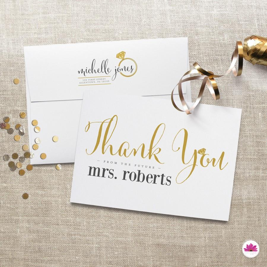 printed thank you cards u2013 bridal shower thank you from the future mrs 100