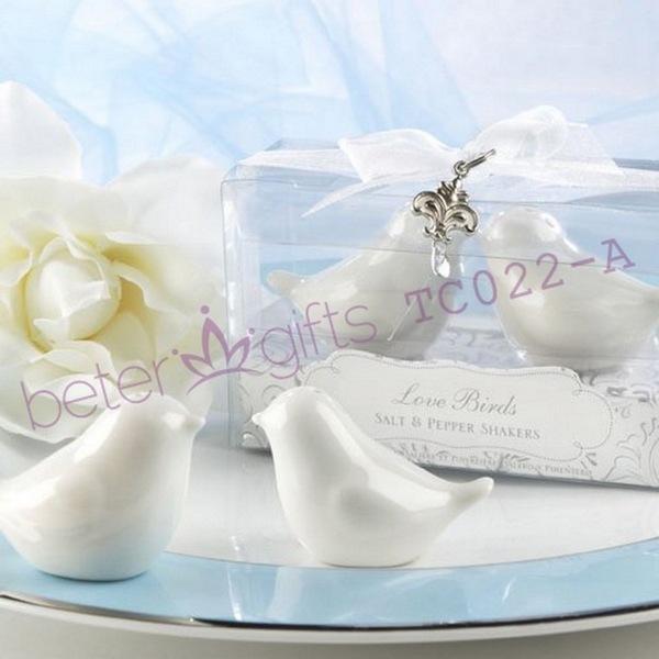 Wedding - 婚礼小物 创意礼物 爱情鸟调味罐TC022生日礼物 欧式满月庆生派对