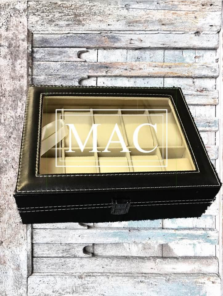 Mariage - HUGE SALE Engraved Watch Box Display Case,Custom Watch Box,Men's Gift,Watch Case