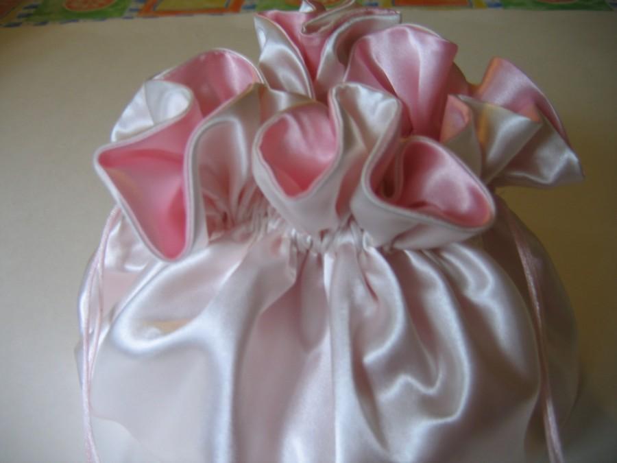 زفاف - Wedding Dollar Dance Bag Brides Bag Ivory Ice Pink Large
