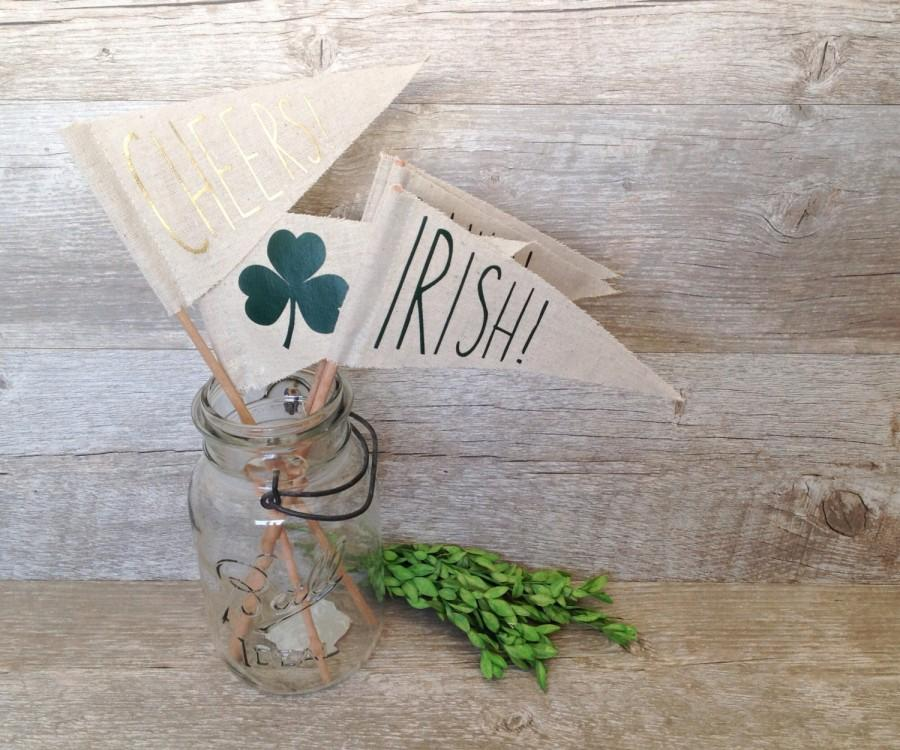 St Patricks Day Flags Irish Decor Slainte Shamrock