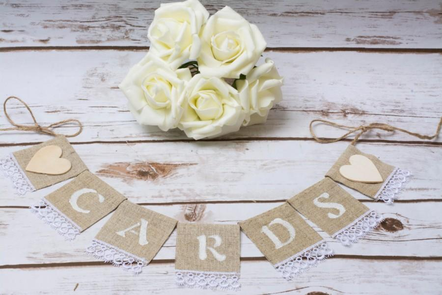 Свадьба - Cards Banner Wedding Cards Sign Banner Burlap Cards Garland CArd Box Wooden Hearts Banners
