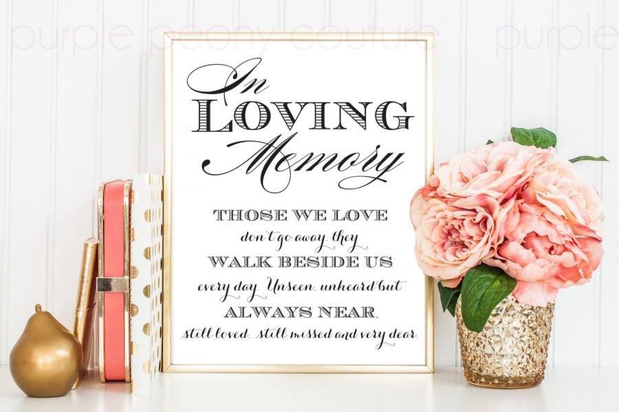 in loving memory wedding sign memorial table frame 8x10 printable, Powerpoint templates
