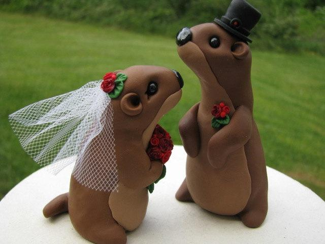 Groundhog Love Wedding Cake Topper #2463533