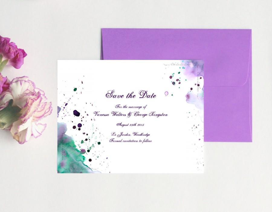 Hochzeit - Watercolor Wedding Save the Date Cards Watercolor Save the Date Wedding Modern Save the Date Watercolor Stationery Watercolour Cards DEPOSIT