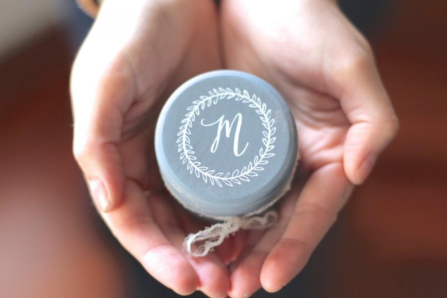 Wedding - Ring Bearer Pillow Box with Lace, Wedding Monogram, Rustic Vintage Inspired Weddings