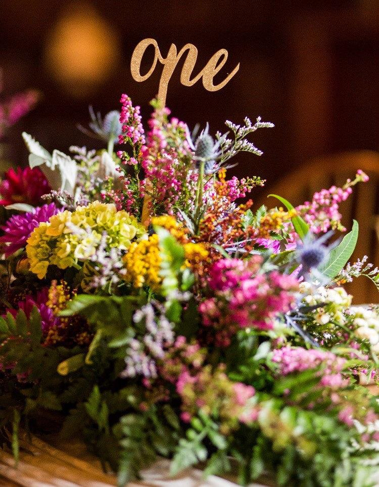 Свадьба - Table Numbers, Centerpiece Table Numbers, Flower Arrangement Table Numbers, Vase Table Numbers