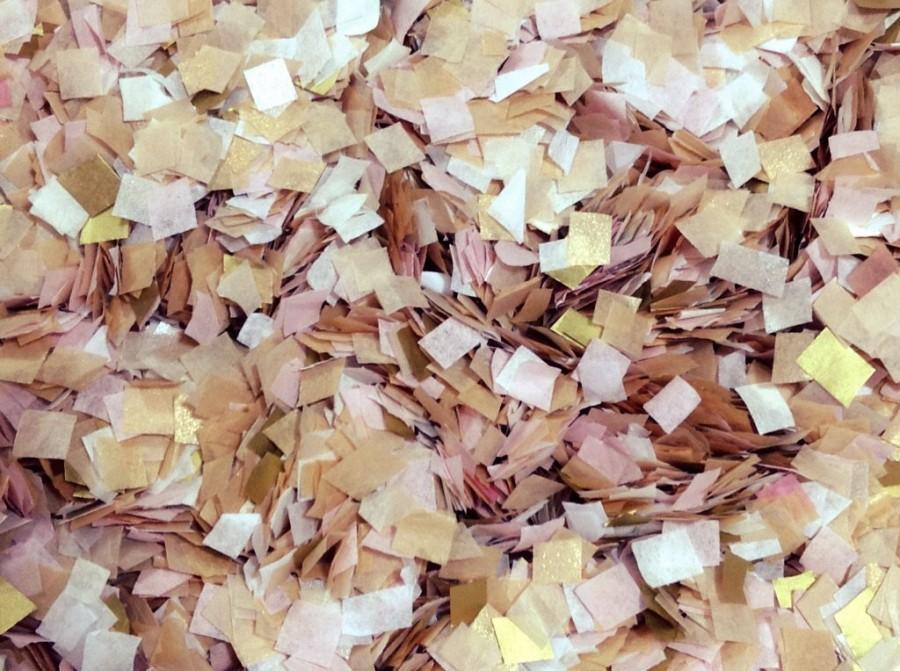 Mariage - Biodegradable Confetti Gold Blush White Wedding Send Off Throwing Confetti Tissue Paper Inside My Nest