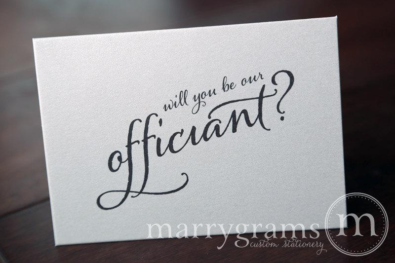 WeddingWedding Card to Ask OfficiantWill You Be Our Officiant ...