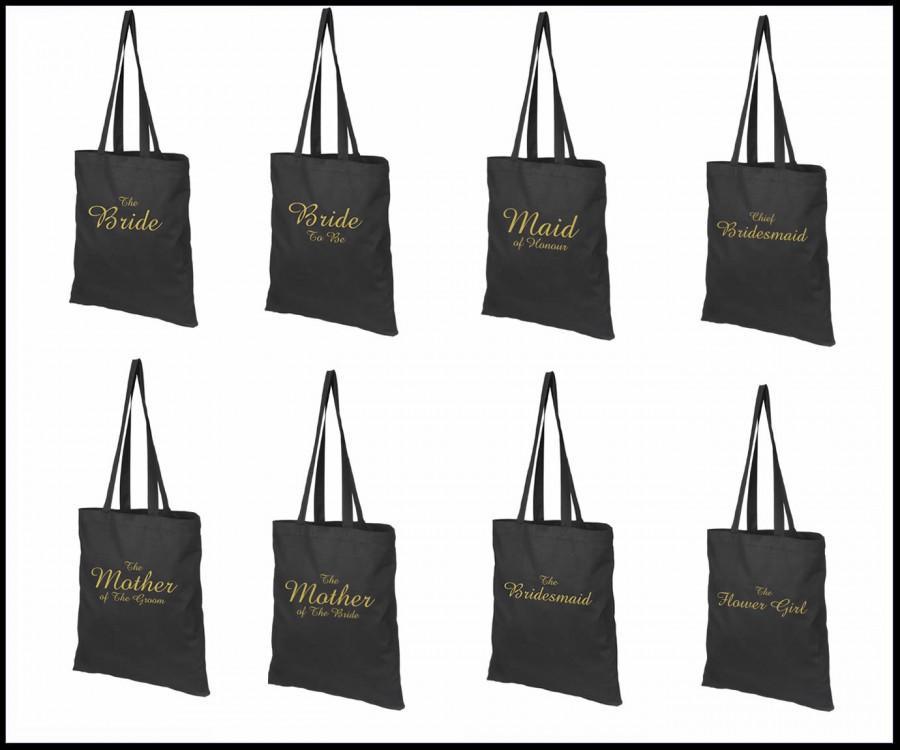 زفاف - Printed Wedding Party Bridal Tote Bags, Bridesmaid, Favour Hen Party Gift Bags