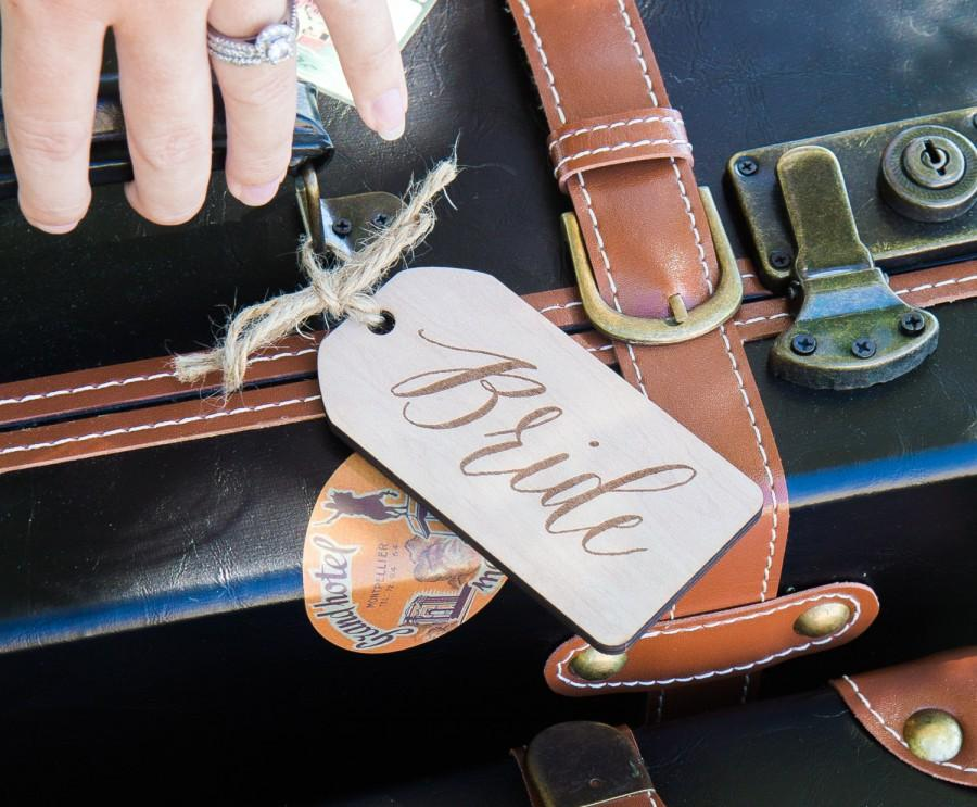 Mariage - Bride & Groom Luggage Tags for Honeymoon Newlywed Suitcases - Tags for Luggage Wedding Gift for Bride and Groom (Item - LUG350)