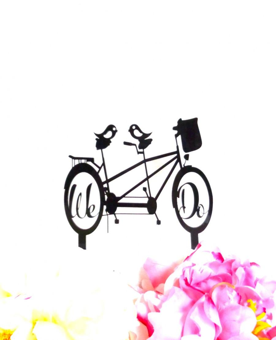 BICYCLE Wedding Cake Topper Bike Riding Couple Bike Cake Topper We ...