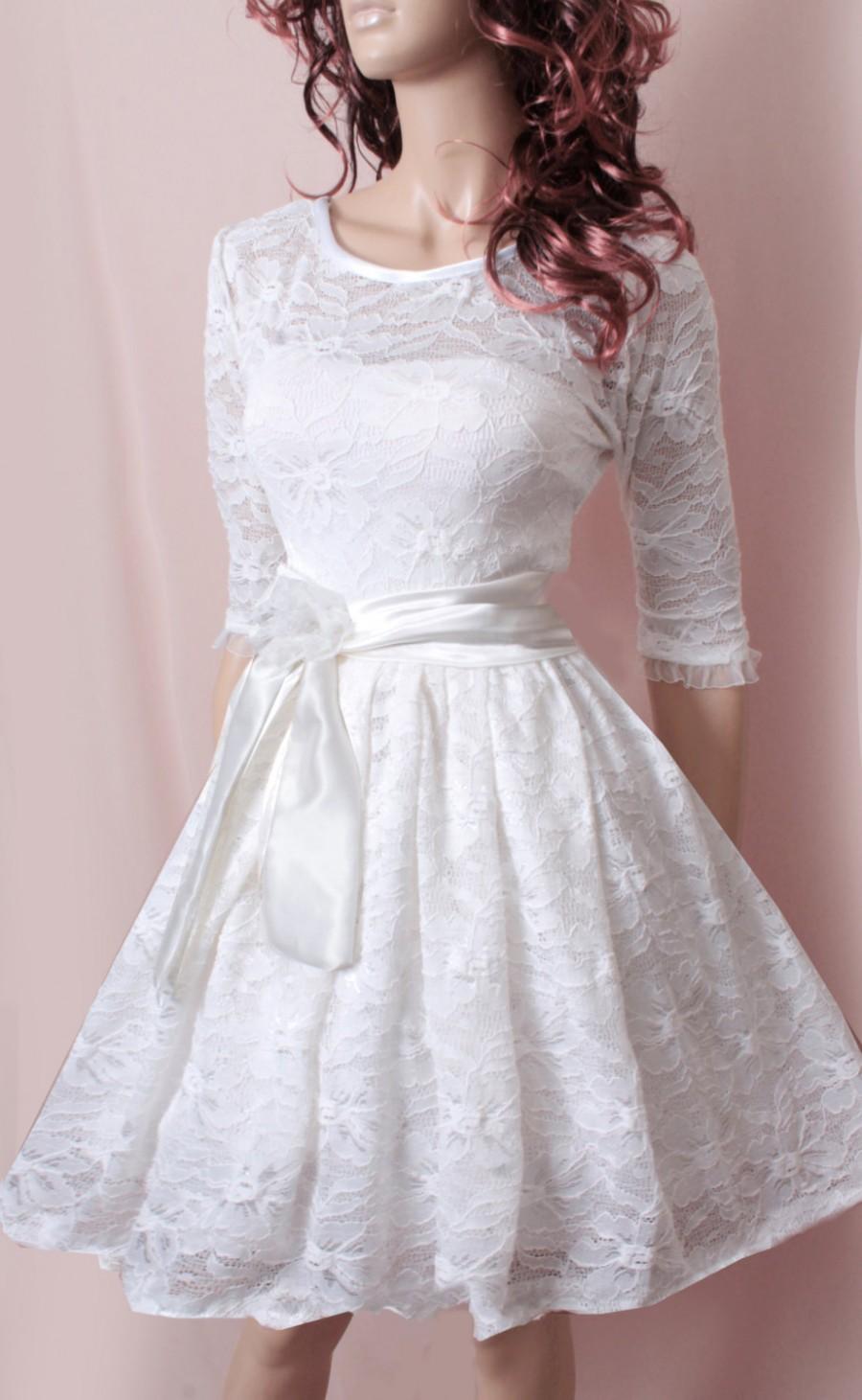 Plus Size Party White Bridesmaid Romantic Wedding Party Short Lace Dress 2463925