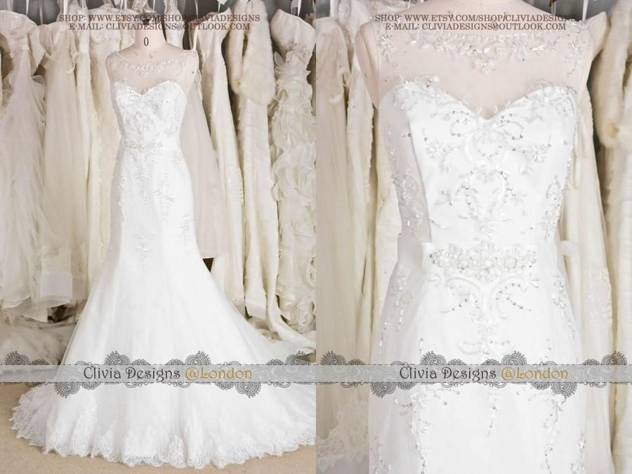 2016 Most Beautiful Beading Embroidery Wedding Dress