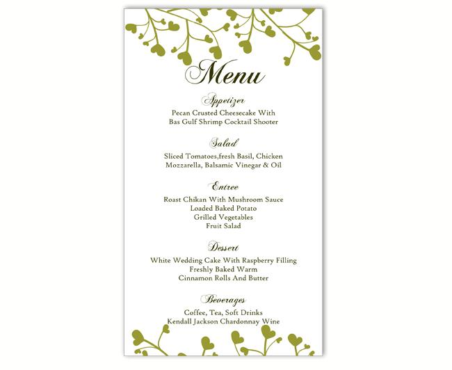 image regarding Printable Menu Template referred to as Wedding day Menu Template Do-it-yourself Menu Card Template Editable Words