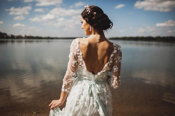 Wedding - The last one! Wedding dress from Chiffon, Long sleeve wedding dress ,Open V-back wedding dress Romantic and Dreamy Wedding Dress