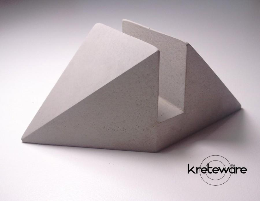 Concrete Business Card Holder Or Other Card Marker Or Event ...