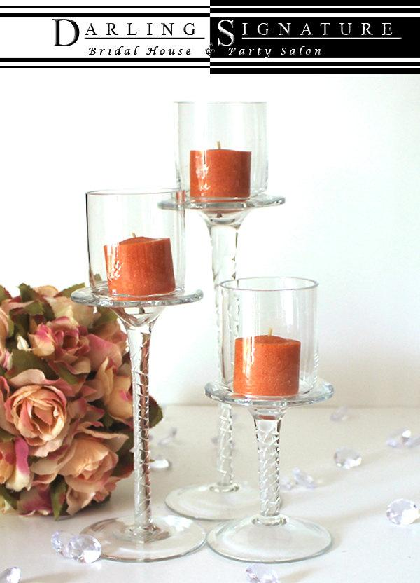 Votive Candle Holders Set Of 3 Candle Holder Centerpiecetall