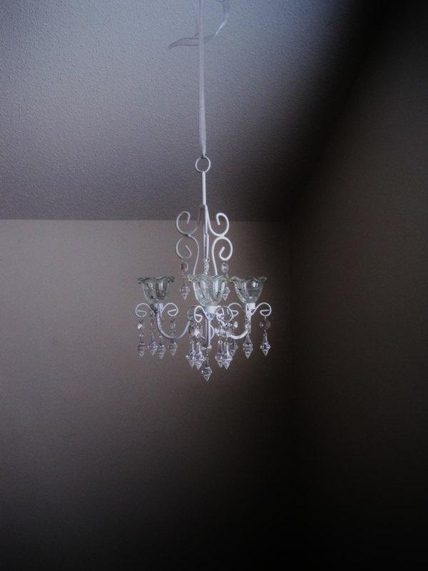 Свадьба - Bliss 3 Candle Chandelier in Snow White