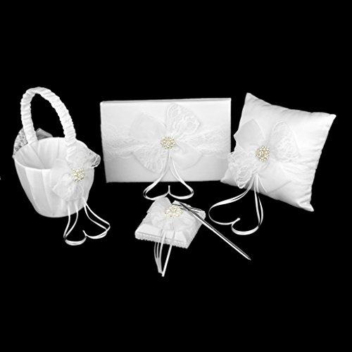 زفاف - White Bow Wedding Set