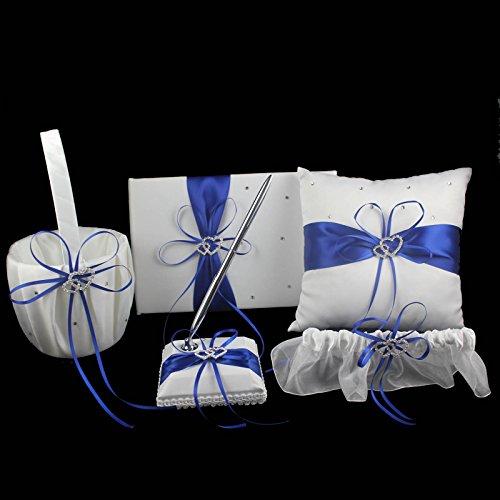 Wedding - Double Heart Diamante Crystal Rhinestone Buckle Wedding Set