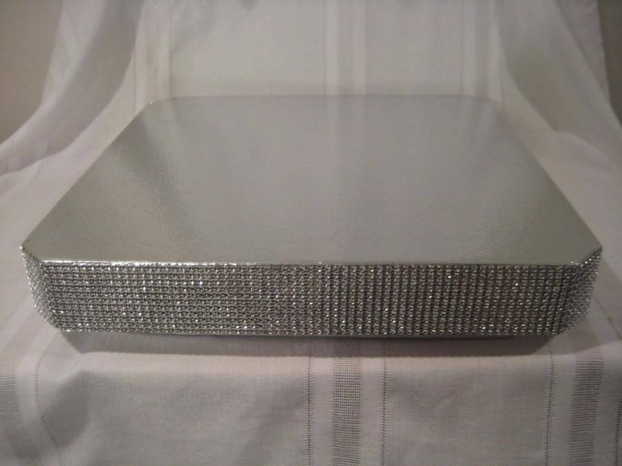 Bling Wedding Cake Stand 16 Inch Quot Square Dazzling Diamonds