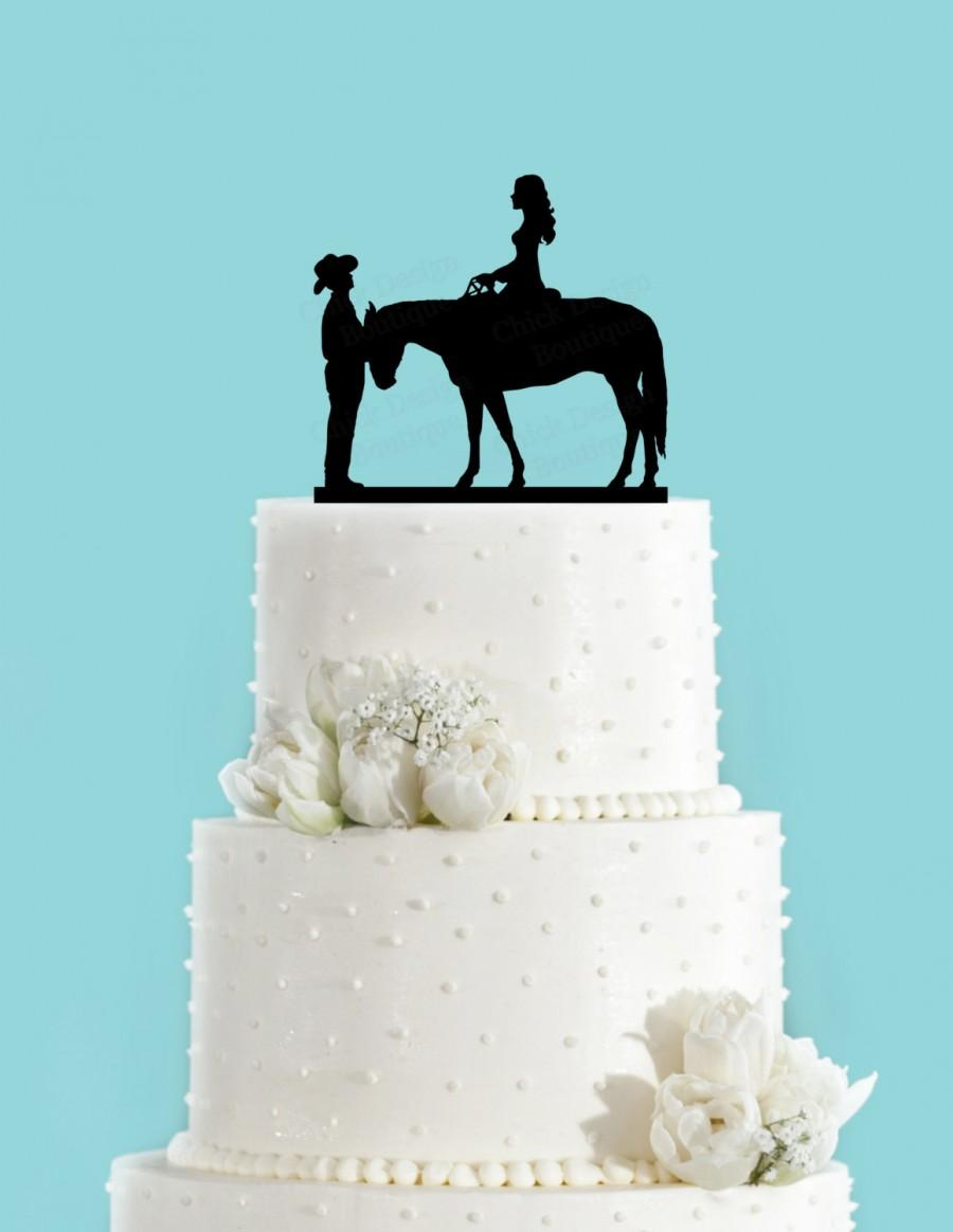 Country Wedding Couple And Horse Acrylic Wedding Cake Topper 2464219 Weddbook
