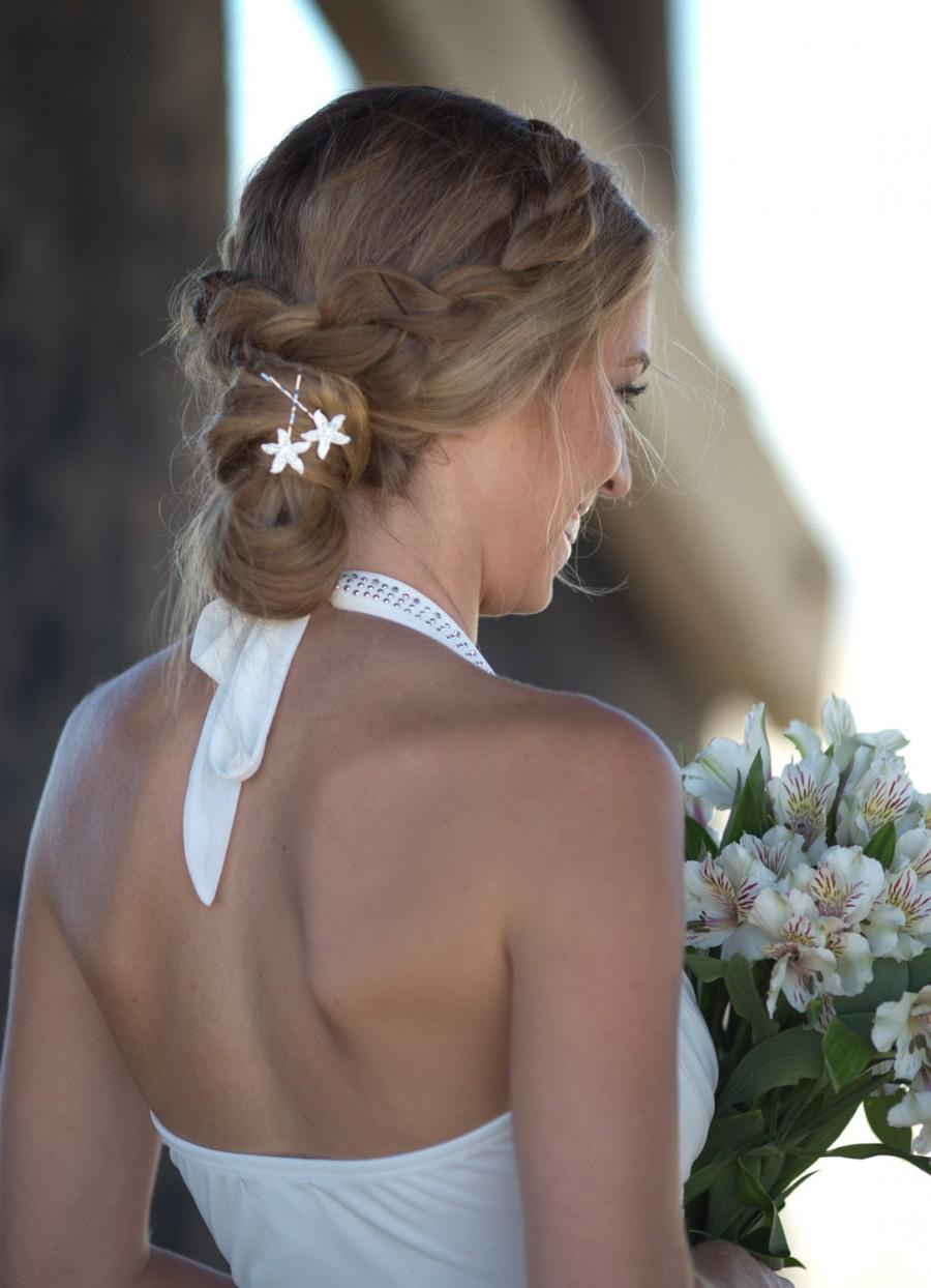 Starfish Bobby Pins Beach Wedding Rhinestone Bridal Hair Accessory Destination Bridesmaid Gift