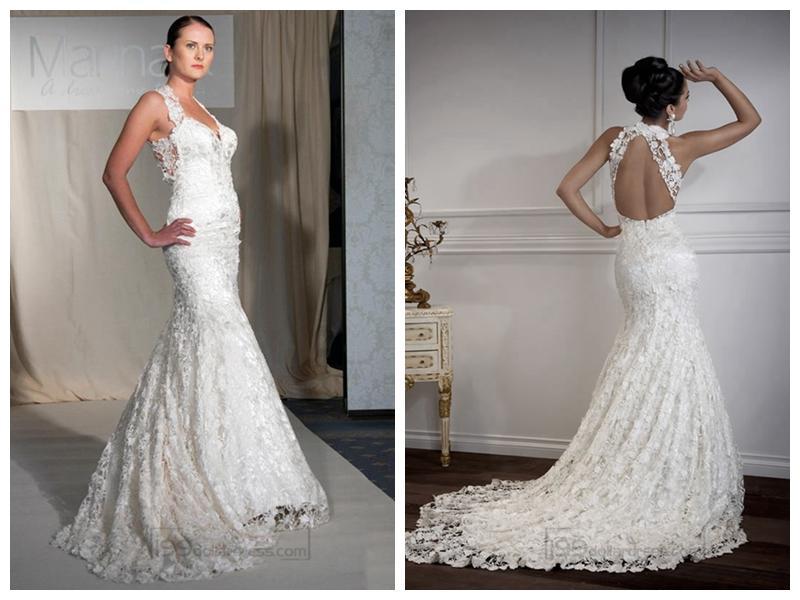 Wedding - Floor Length Mermaid Sweetheart Open Cross Back Wedding Dresses