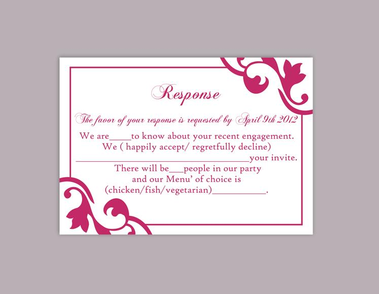 picture regarding Printable Rsvp Card titled Do-it-yourself Wedding ceremony RSVP Template Editable Term Document Down load Rsvp