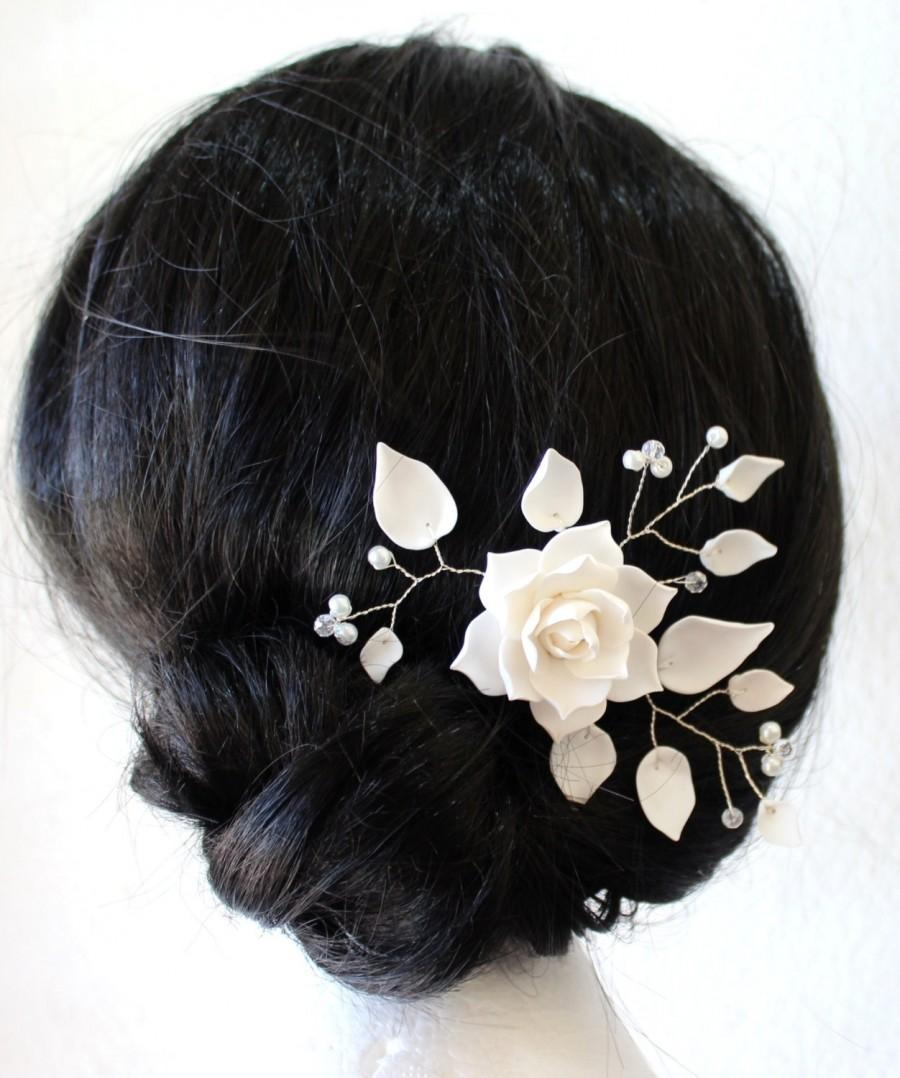 White Magnolia Flower Hair Clips Flower Accessories Magnolia