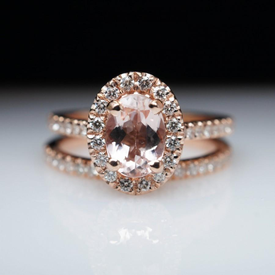 oval morganite engagement ring rose gold engagement ring
