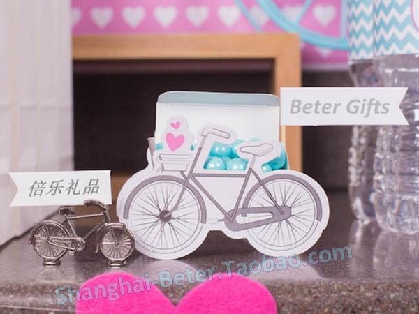 Wedding - 12pcs脚踏车喜糖盒糖果盒TH042满月酒生日雪纱袋闺蜜单身庆生派对