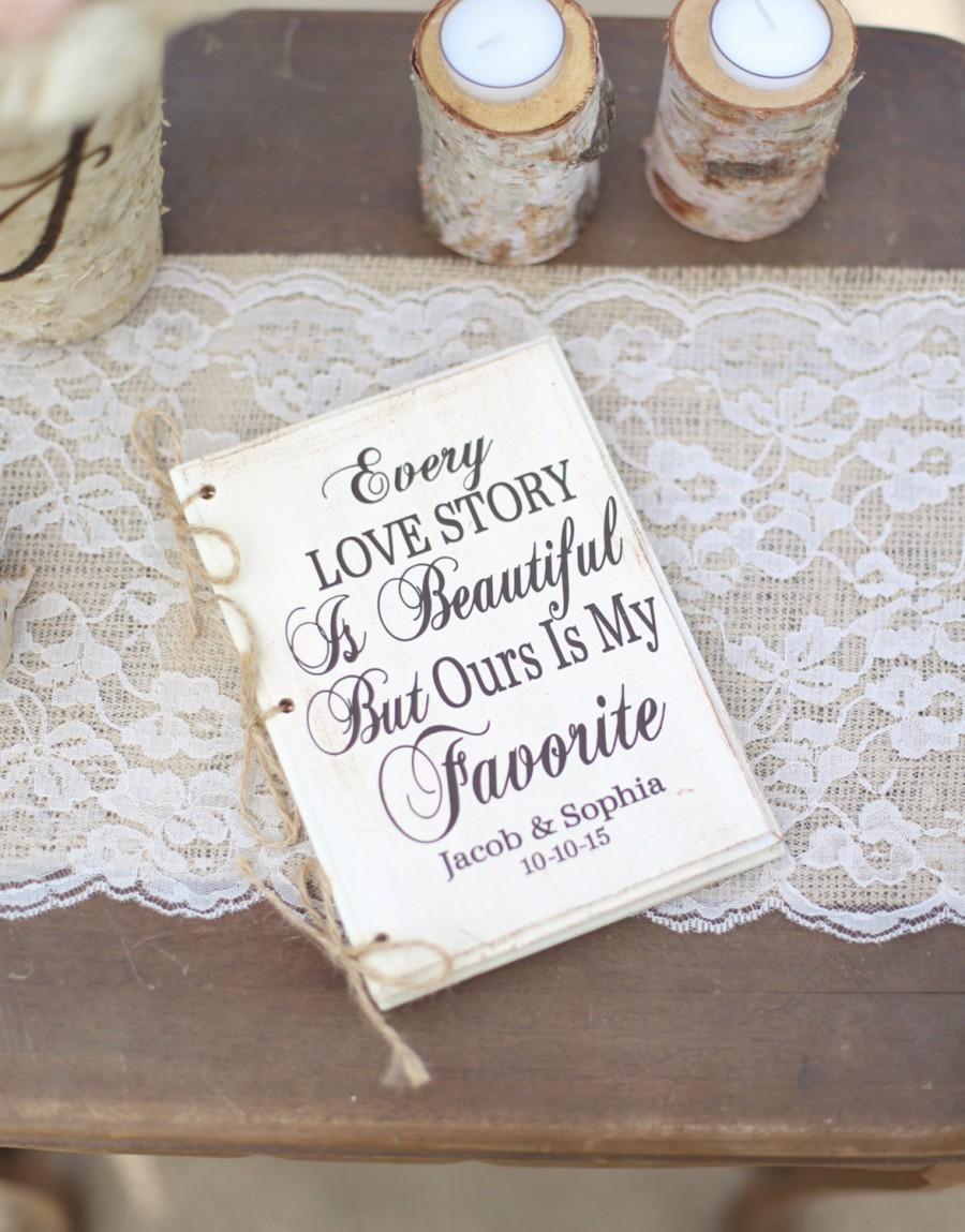 Personalized Rustic Wedding Guest Book Hipster Bridal Shower Keepsake Typography Item Number Mmhdsr10061