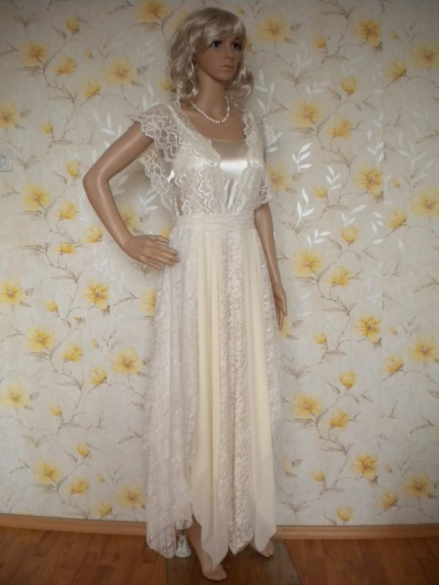 Свадьба - bohemian wedding dress wedding gown beach romantic fairy dress bridal gown mori girl made to order