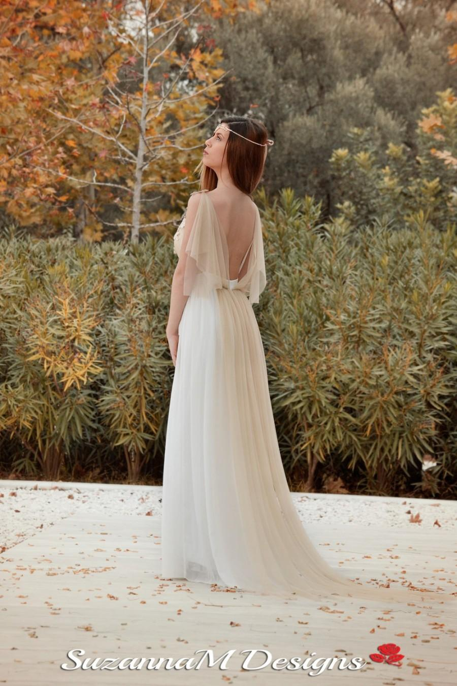 Grecian Wedding Dress.Wedding Dress Long Fairy Wedding Gown Romantic Wedding Dress