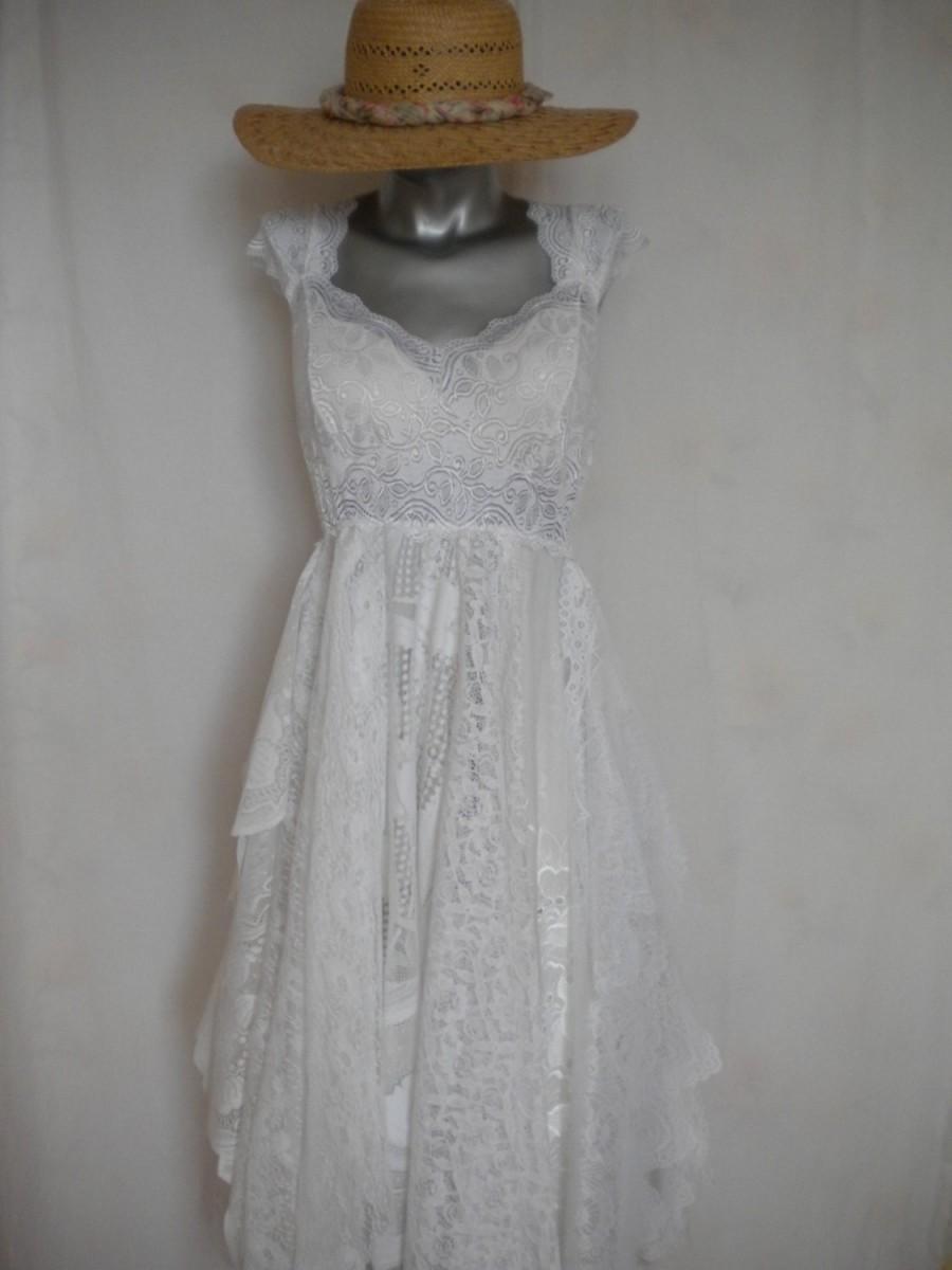 Bohemian Wedding Gown Woodland Fairy Wedding Dress Mori Girl Dress ...