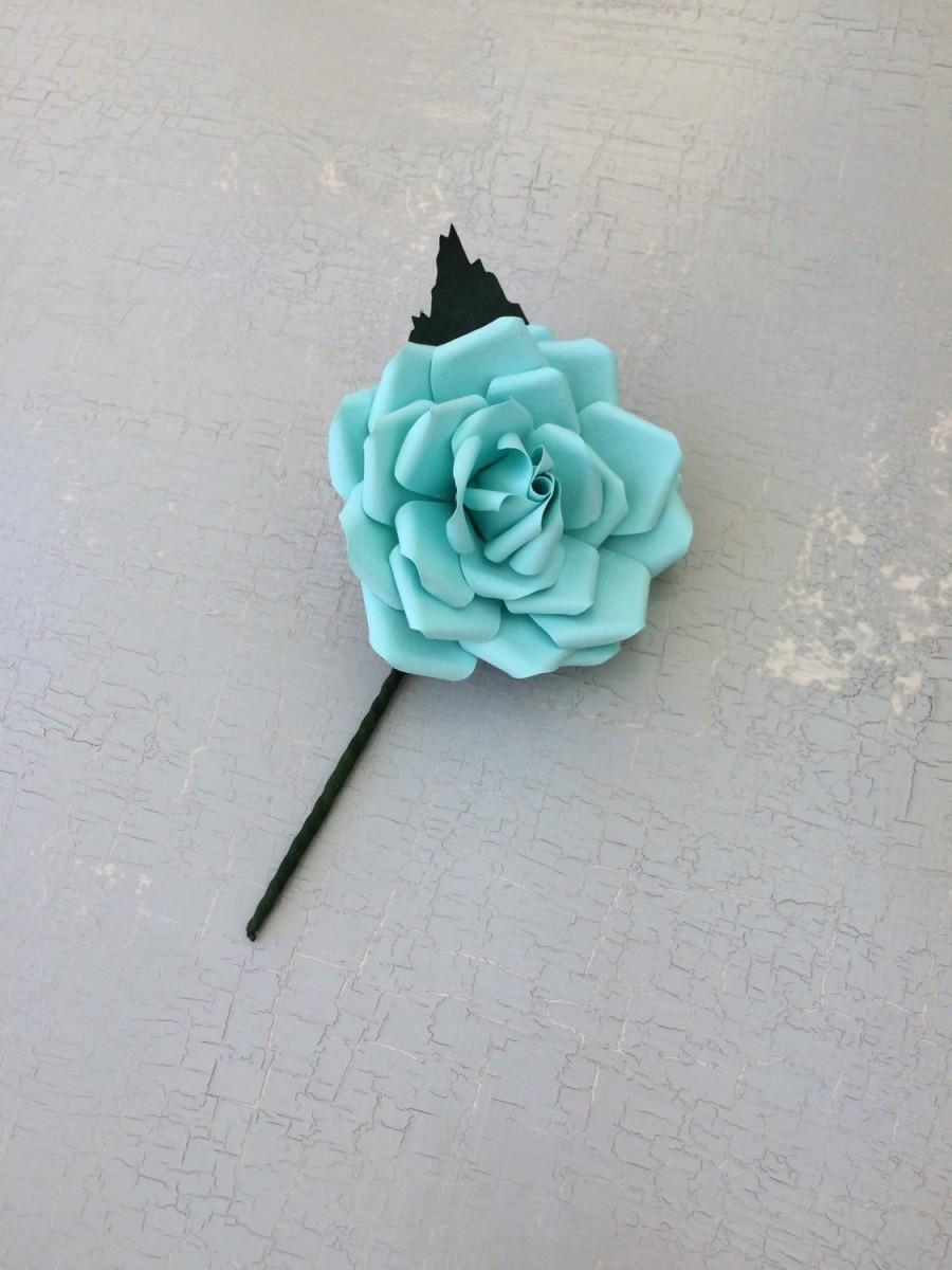 Mariage - Buttonhole Boutonnière Groom Groomen Best Man Wedding Flowers Aqua Blue Green - other colour options available