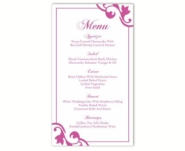 Mariage - Wedding Menu Template DIY Menu Card Template Editable Text Word File Instant Download Eggplant Purple Menu Template Printable Menu 4x7inch