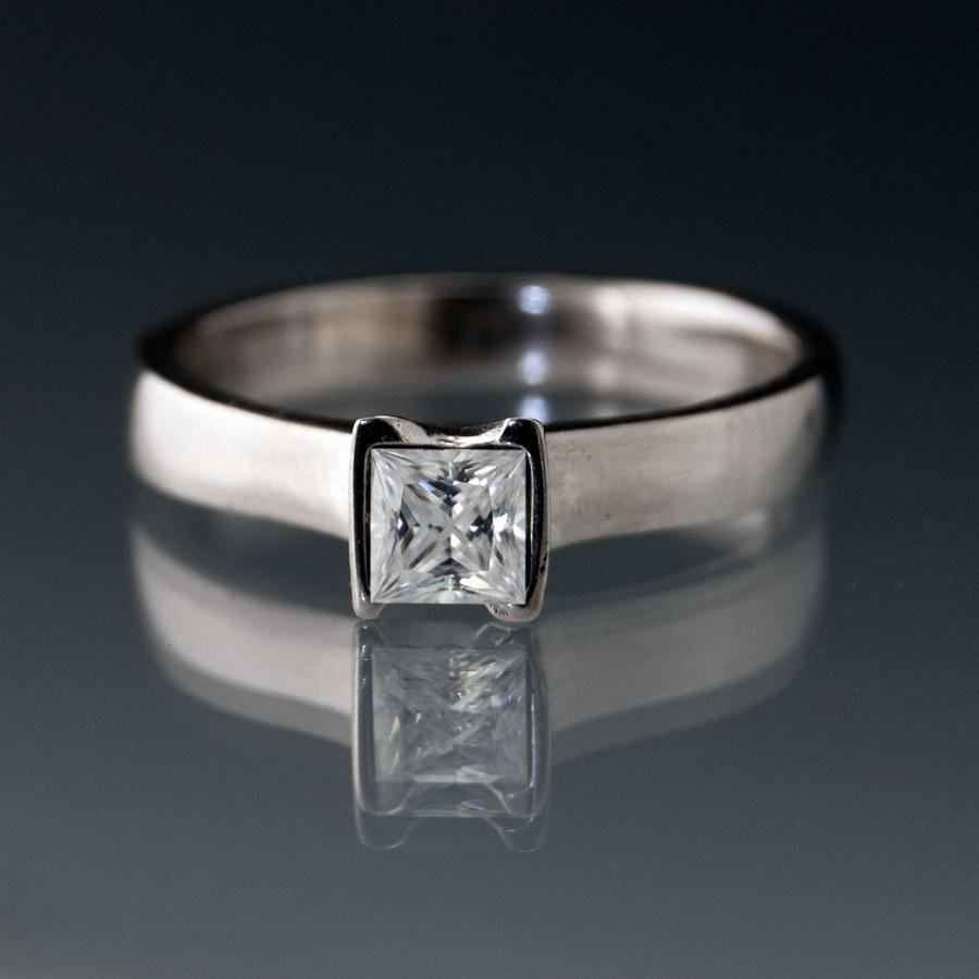 moissanite engagement pristine diamonds forever round anniversary ring custom media and eternity one genuine platinum