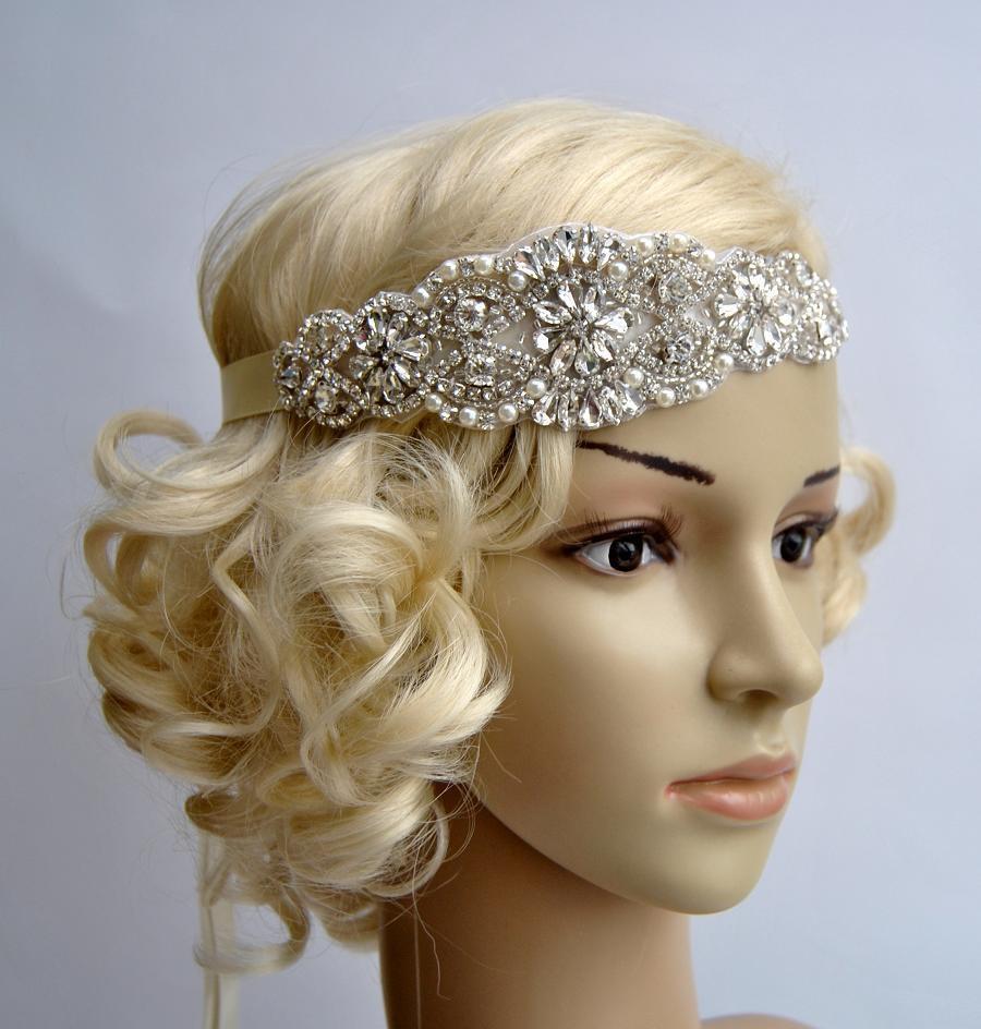 Luxury Pearls Rhinestone Headband, Bridal Headband ...