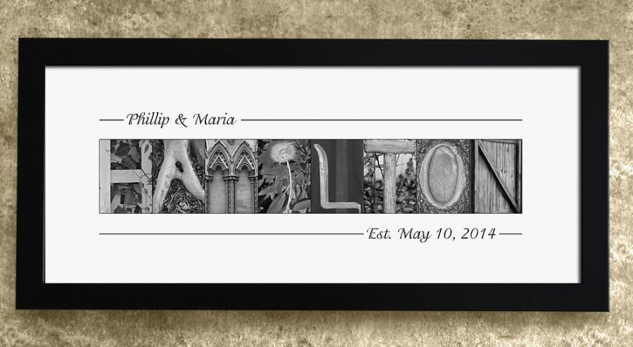 Mariage - Personalized Gift for Weddings, Wedding Gift, Gift for Newlyweds, Gift for Wife, Engagement Gift, Last Name Sign