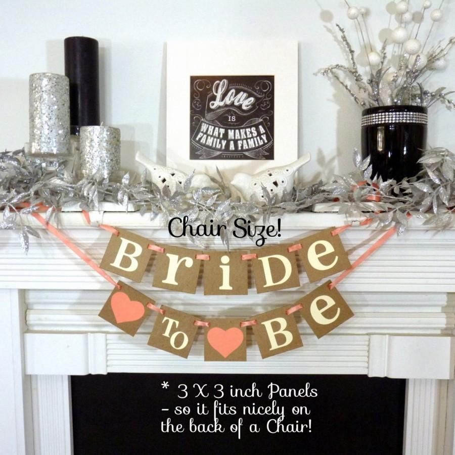 bridal shower decoration banner bride to be chair sign bride to be small banner wedding garland signage rustic wedding decorations
