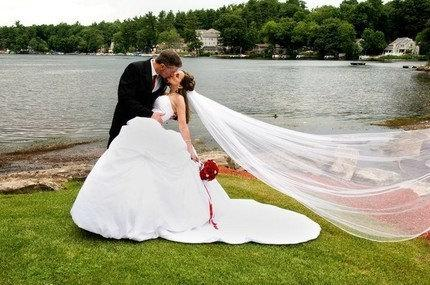 Wedding - Elegant Ivory Cathedral Wedding Veil with Ivory Satin Cord Edge Bridal Vail 108 Inches Long 108 Inches Wide  96317
