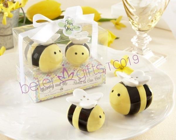 Boda - 爆款开学用品 欧式结婚用品调味瓶 可爱bee小蜜蜂胡椒罐蜂蜜TC019