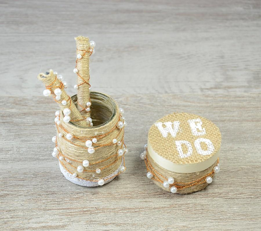 Rustic Wedding Guest Book Pen And Pen Holder Ring Bearer Box Pearl