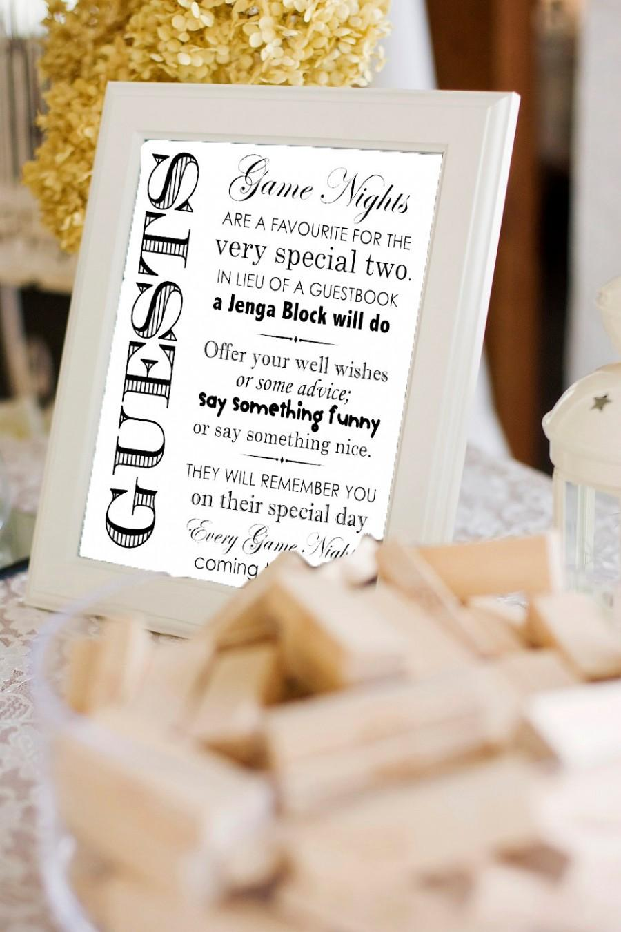 263aaa21a266 Printable Jenga Guestbook Sign- - Wedding Guestbook