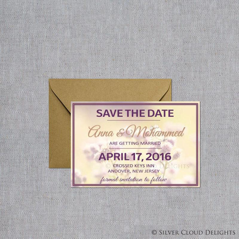 Mariage - Save the Date Magnets - Wedding Save the Date - Flowers and Butterfly Save the Date - Wedding Announcements with Magnets