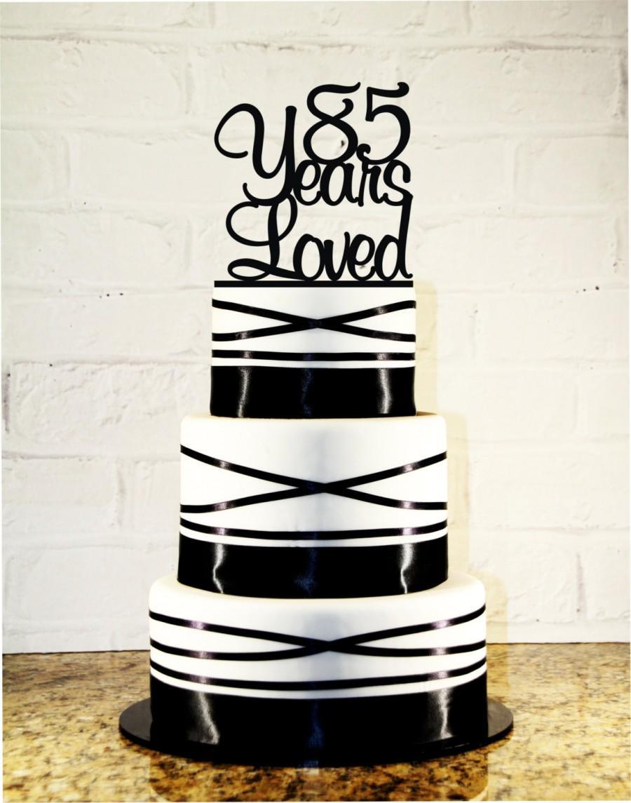 85th Birthday Cake Topper